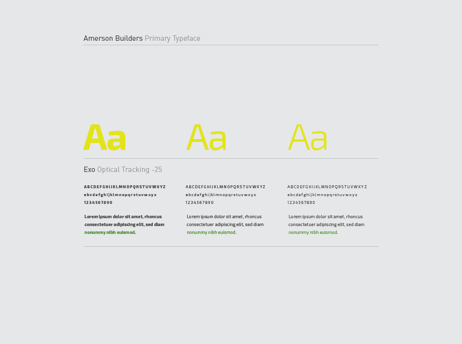 Amerson Builders Logo Typography