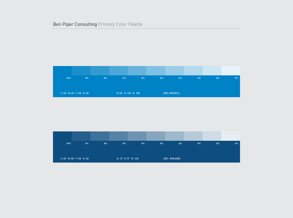 Ben Piper Consulting Logo Color Palette
