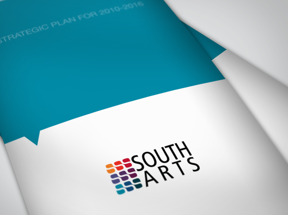 SouthArts Strategic Plan Brochure Graphic Design