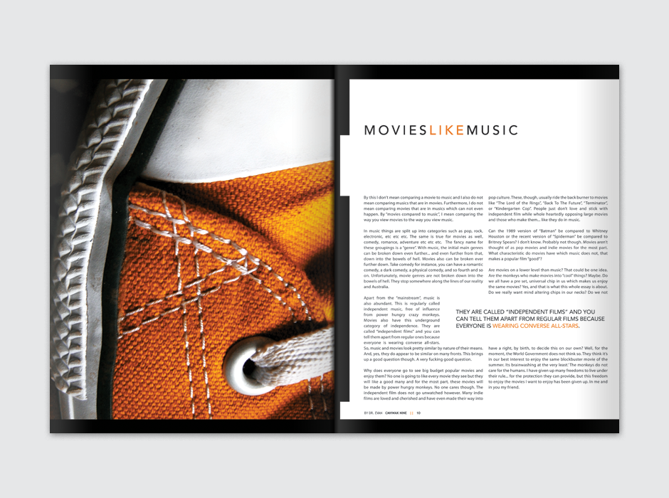 CMHWAK Magazine Movies Like Music Spread
