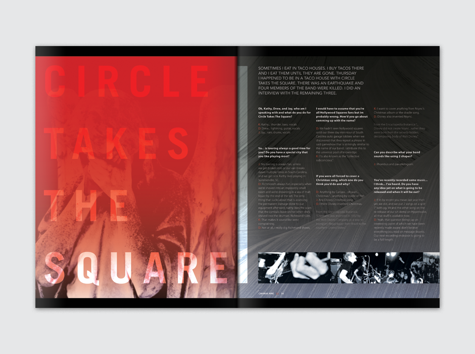 CMHWAK Magazine Circle takes The Square Spread