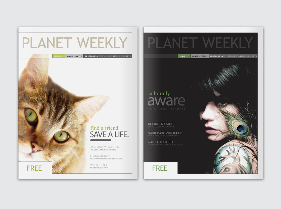 Planet Weekly Alternative Publication Cover