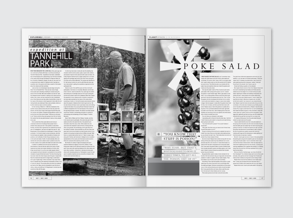 Planet Weekly Alternative Publication Spread Design
